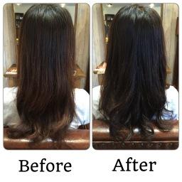 髪を治療しながら色を落とす