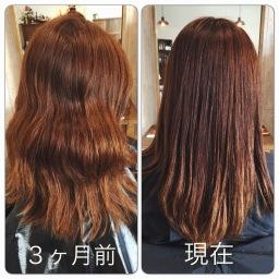 oggi ottoを3ヶ月間使用した髪の症例